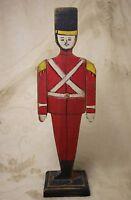 Vintage Handmade Handpainted Wood Christmas Soldier Articulating Arms