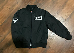 Chicago Bulls NBA Boys Full Zip Black Jacket Size S (8) NWT