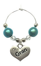 Gran Wine Glass Charms with Gift Card - FREE P&P