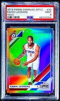 2019-20 Donruss Optic KAWHI LEONARD HOLO Prizm -1st Clipper Optic- PSA 9 Pop 12