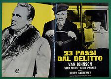 T73 FOTOBUSTA 23 PASSI DAL DELITTO VAN JOHNSON VERA MILES CECIL PARKER 1