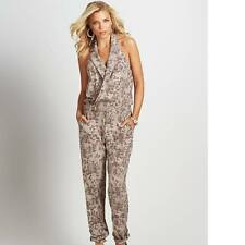 New Women's sz 2 GUESS Sleeveless Leopard-Print Woven halter jumpsuit