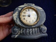 early  plastic  bakelite ???   mantle clock miniature 11x 11 cm