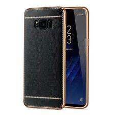 Samsung Galaxy S6 Hülle Case Handy Cover Schutz Tasche Schutzhülle Etuis Schwarz