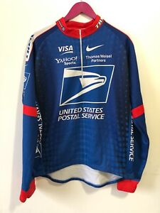 Vintage Nike USPS Cycling Lance Armstrong 2001 Tour De France Jersey Shirt XXL