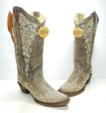 Corral Scroll Embroidery Western Boots, Women's Size:6.5 Medium (B439)