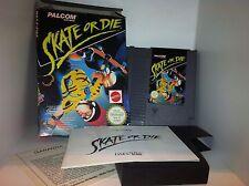 Skate or Die Boxato Eccellente Nintendo Nes Cartuccia Italiana Pal A + Manuale