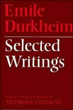 Selected Writings Hardcover Emile Durkheim