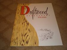 Vintage 1969 DRIFTWOOD RESTAURANT TAVERN MENU With INSERT BAY STREET, TORONTO