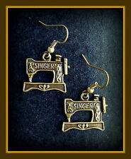 Singer Sewing MACHINE Earrings - Quilting - Vintage Featherweight look Jewelry