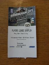25/09/2013 Ticket: Birmingham City v Swansea City [Football League Cup] [Players