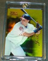 1996 J.T. SNOW SELECT CERTIFIED MIRROR GOLD #19  1/30 MADE ANGELS
