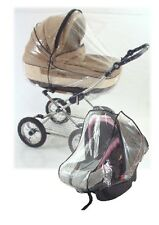 New Universal Raincover to fit Babystyle Prestige Pram & Car Seat (2 Covers)