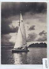 A6669pac Transport Yacht Poland 1964 Tokyo Olympic Stamp postcard