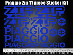 Piaggio ZIP Decals / Sticker Set ALL colours available! 50 70 125 172 SP RS
