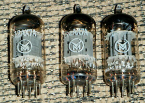 3 VM Mullard 12AX7A Vacuum Tube Valve Great Britain 1022-331 161 B3C3 Pair B3O1