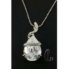 Crystal White Gold Plated Chain Fashion Necklaces & Pendants