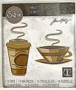 TIM HOLTZ CUT EMBOSS & STENCIL THIN DIES ~CAFE COLORIZE CODE 665212