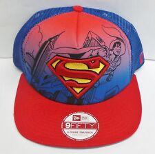 New Era 9 FIFTY Superman Héroe Cap/Hat Net de escena (Azul/Rojo) - Nuevo