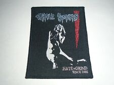 CRIPPLE BASTARDS HATE & GRIND WOVEN PATCH