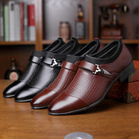 Mens Oxfords Tuxedo Shoes Slip On Business Formal Work Loafer Pointed Toe Dress