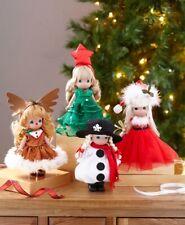 "2 Precious Moments® Linda Rick Christmas Vinyl Doll Maker Tree /& Reindeer 7/"""