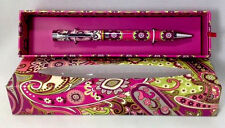 Vera Bradley Very Berry Paisley Ball Point Pen Gift Box Black Ink New Purple