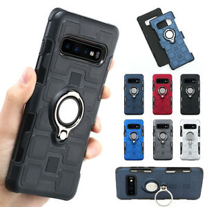 For Samsung Galaxy S10 Plus/S10e Note8/9 S9/8+ Magnet Car Ring Stand Case Cover