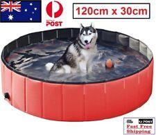 New Folding PVC Swimming Pool For Pet Dog Animal Bath Bathing Tub Washer XL
