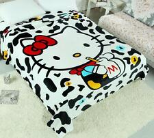 """New Hello Kitty Cute Home Supersoft Plush Bedroom Blanket Throw Cover 59""""x78"""""""