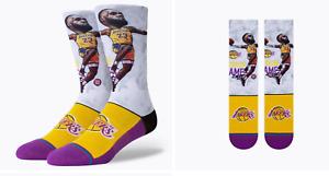 STANCE LBJ BIG HEAD LA LAKERS LEBRON NBA Crew Socks Youth Large (YL 3 - 5.5)
