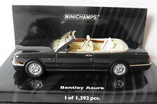 BENTLEY AZURE 1996 BLACK MINICHAMPS 436139930 1/43 ROADSTER REMOVABLE SOFTTOP