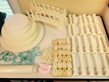 Large Lot of Vintage Wilton Wedding Cake Supplies Decorations