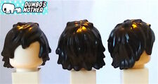 100% Lego Hair Black Tousled Long Bangs Minifigure Hair Cole Ninjago NEW
