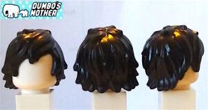 100% Lego Hair Black Tousled Long Bangs Minifigure Hair Cole Ninjago NEW