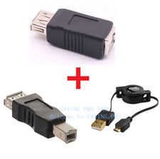 USB Type A Female to USB Type B Male Camera Printer Cable Adapter Converter