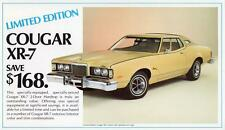 Print. Cream 1976 Mercury Cougar XR-7 Limited Edition Auto Ad