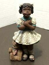 Vintage Sarah's Attic 1994 Girl With Bear Love And Hugs # 846 Figure Signed
