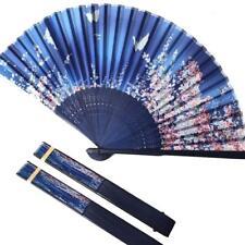Bamboo Wood Silk Folding Fan Japanese Style and Butterflies Pattern New