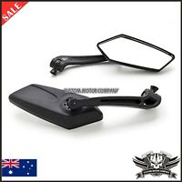 Black billet 10mm 8mm universal rear view mirrors Yamaha YZFR6 R6S YZF R6 Harley