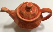 Farval Tea Ware Coffee Tea Orange Teapot Hand Crafted In Portugal Up To 6 Cups