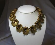 Miriam Haskell Necklace Russian Gilt Leaves Early 1930s Signed RARE! Museum