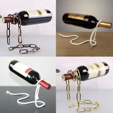 MAGIC CHAIN/LASSO ROPE WINE BOTTLE HOLDER FLOATING ILLUSION RACK STAND ART GIFT