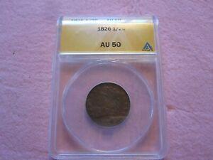 1826 Classic Head Half Cent ANACs graded AU50 Better Date (1/2C)