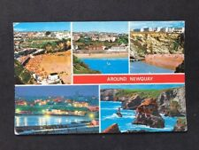"""Vintage Real Photo Postcard #TP320: """"Around Newquay"""": Multiview: Posted 1974"""