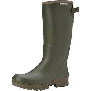 Goodyear Stream Mens Green Tall Neoprene Wellington Boots Wellies Size 7-13