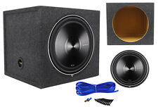 "Rockford Fosgate P3D2-15 15"" 1200 Watt Car Subwoofer + Sealed Sub Enclosure Box"