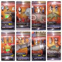 MOC LOT 1996 MicroMachines Star Wars Battle Packs #s 1 - 8