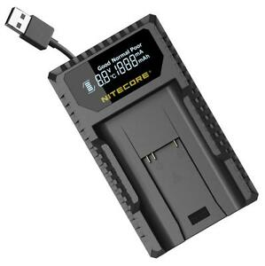 Nitecore ULM9 USB Digital Travel Charger for Leica M Series BLI-312 Batteries