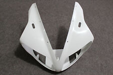 ABS Plastic Unpainted White Upper Fairing Front Nose for YAMAHA YZF R1 2002-2003
